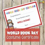 World Book Day Certificate: Best Costume – Best Costume Certificate Printable Free