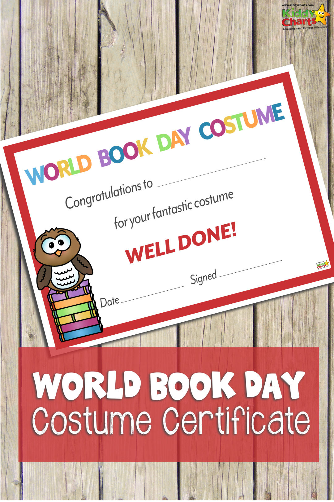 World Book Day Certificate: Best Costume - Best Costume Certificate Printable Free