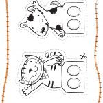World Cup Crafts – Poppy Cat Finger Football – Red Ted Art's Blog – Free Printable Finger Puppet Templates