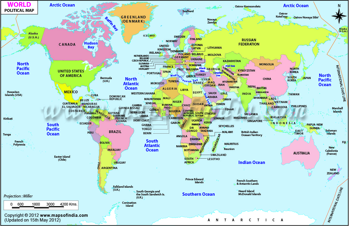 World Map Printable, Printable World Maps In Different Sizes - Free Printable World Map With Countries Labeled