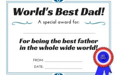 World's Best Dad! 3 Free Printable Certificates For Father's Day – Free Printable Awards