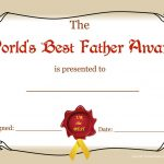 Worlds Greatest Mom And Dad Awards | Free Printable Best Father   Grandparents Certificate Free Printable
