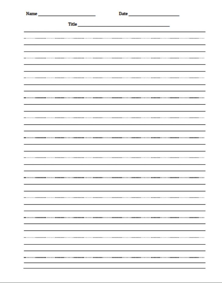Free Printable Writing Paper For Adults