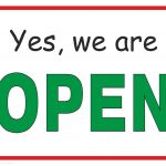 Yes, We Are Open   Free Printable Sign   Free Printables   Free Printable Signs