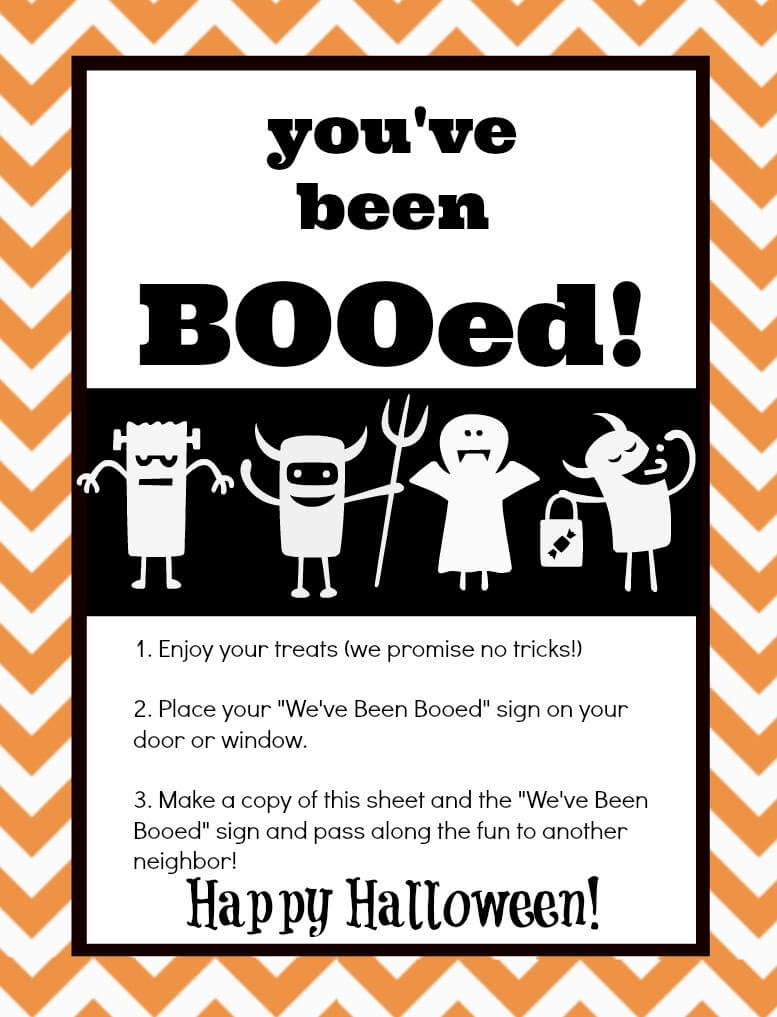 You've Been Booed! Mason Jar Gift & Free Printables | The Happier - You Ve Been Booed Free Printable