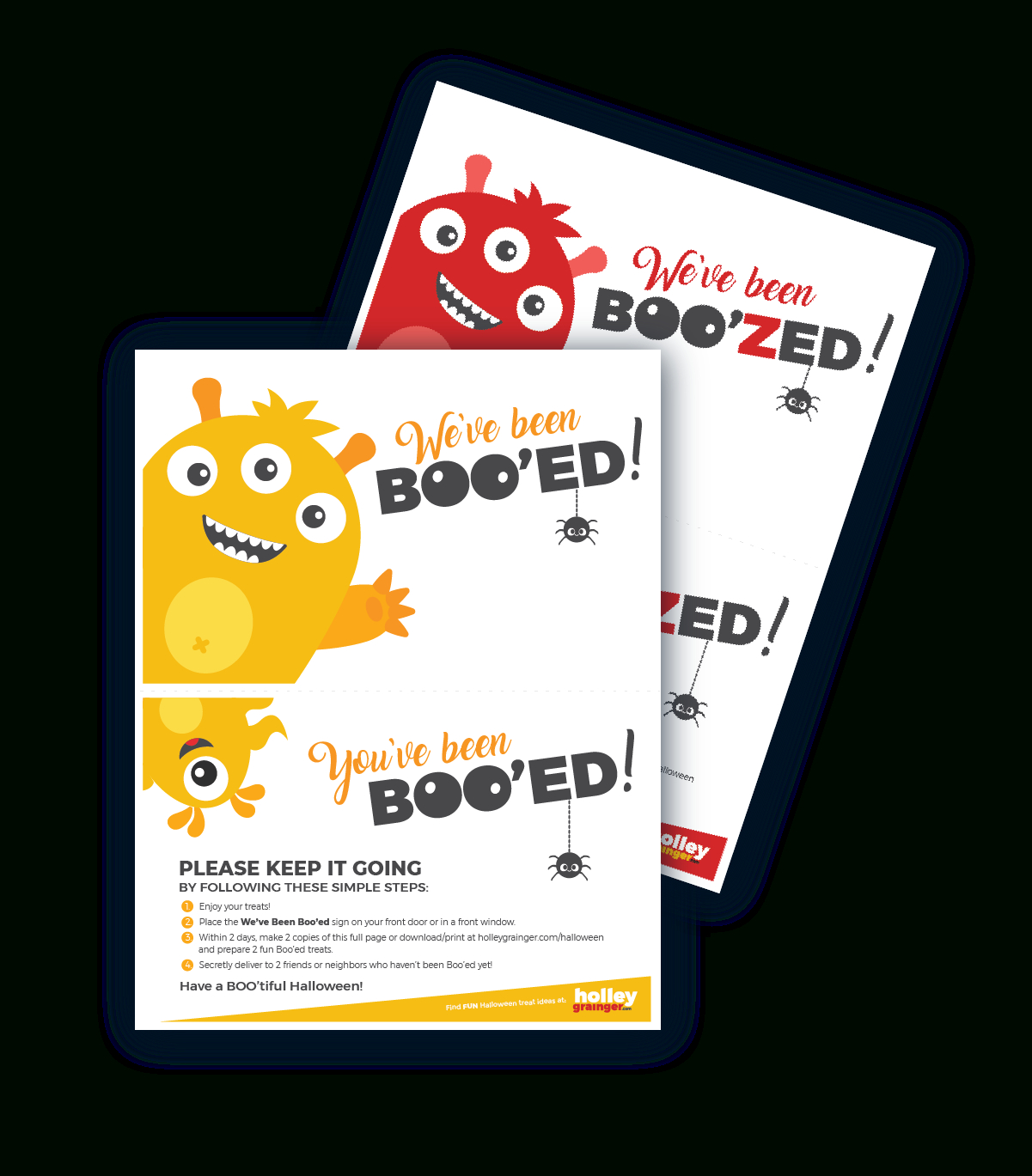 You've Been Boo'zed! Free Halloween Printable | Holley Grainger - You Ve Been Boozed Free Printable