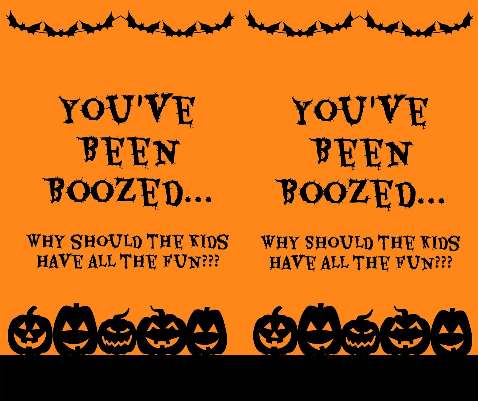 You've Been Boozed Printable. | This Is Halloween! Halloween! Halloween! - You Ve Been Boozed Free Printable