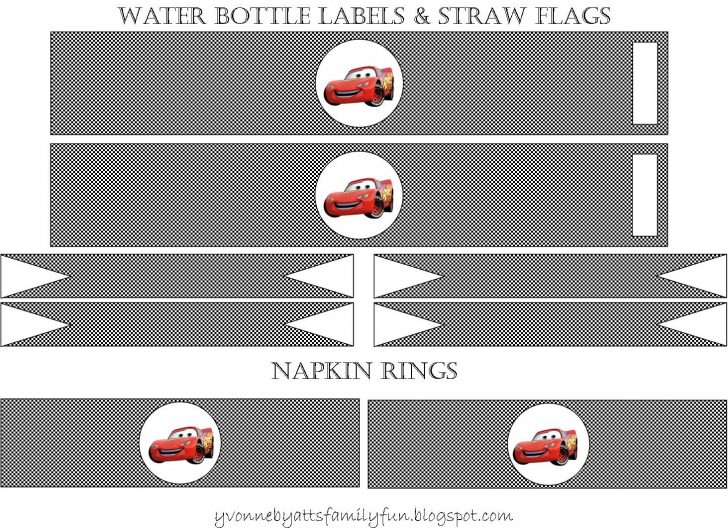 Free Printable Cars Food Labels