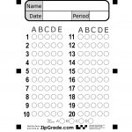 Zipgrade: Answer Sheet Forms   Free Printable Bubble Answer Sheets