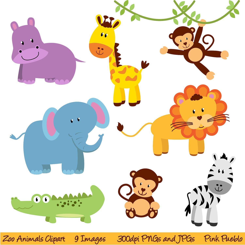 Zoo Animals Clipart Clip Art, New Jungle Animals Clipart Clip Art - Free Printable Baby Jungle Animal Clipart
